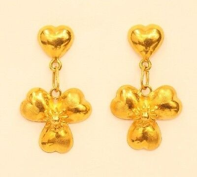 18k gold  heart earring from Thailand #26