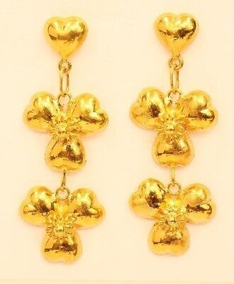 18k gold  heart earring from Thailand #31