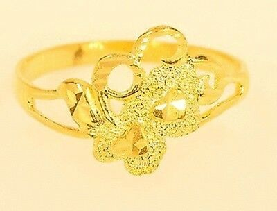 18k gold double heart ring from Thailand #34