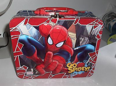 SpiderMan`2013,Marvel Comics-Metal Lunchbox`very Cool-New- Reducedl-: Free To US