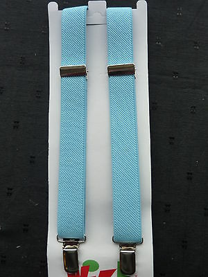 BRACES for BOYS/GIRLS/CHILDREN/KIDS -BRAND NEW- SKY BLUE..to fit approx.1-6 yrs.