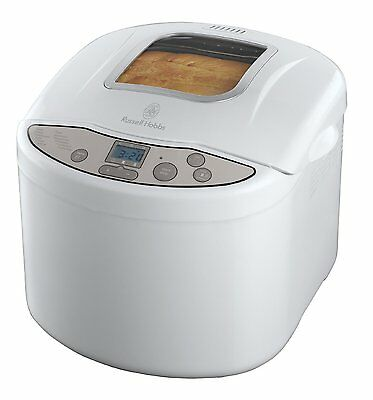 Russell Hobbs 18036 Fastbake Breadmaker with 3 Loaf Sizes in White **BRAND NEW**