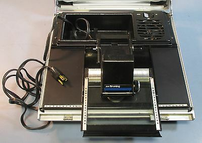 AM Bruning The Portable Microfiche Reader Used Blown Bulb