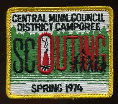 Spring 1974 Central Minnesota Council District Camporee Boy Scout Patch B.S.A.