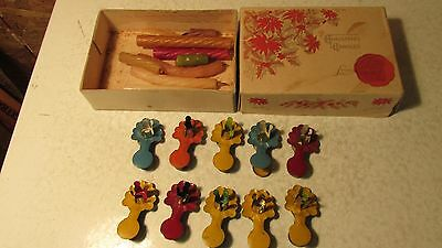 Antique Christmas Tree Candles & Clips  No. 6