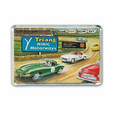 Retro - Triang Minic Motorways Box Artwork -Jumbo Fridge/ Locker Magnet