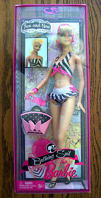 """2009--Barbie """"BATHING SUIT BARBIE (Then and Now 1959-2009)"""" by Mattel (NIP)"""