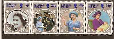 FALKLAND IS 1985 QUEEN ELIZABETH QUEEN MOTHER 4v MNH