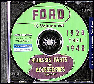 Ford Green Bible Chassis Parts Book and Body Books CD 1941 1942 1946 1947 1948