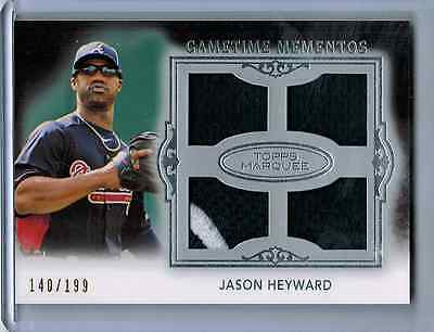 JASON HEYWARD  TOPPS MARQUEE GAME TIME MOMENTOS QUAD 2 CLR GAME USED JERSEYS#299