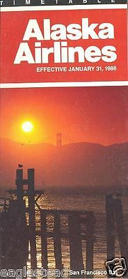 Airline Timetable - Alaska - 31/01/86 - San Francisco Bay cover