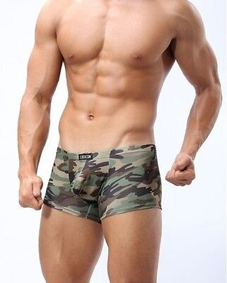 Sexy Boxer Shorts - Super Bulge-Camouflage Hipster -Army Look-Tarnfarben Neu L