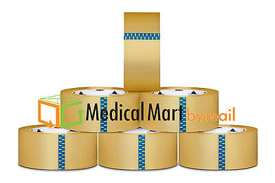 """Clear Packing Tape 3 Mil hotmelt 72 Rolls of tape 2"""" x55 Yards"""