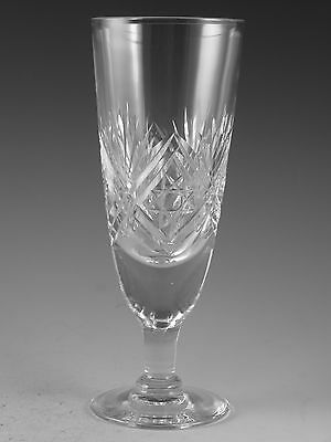 Thomas WEBB Crystal - ST ANDREWS Cut - Champagne Flute Glass / Glasses - 6 1/2""