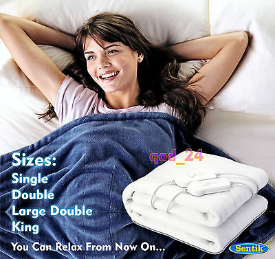 Single / Double / King Size Electric Blanket For Bed Washable Heated Under Sheet