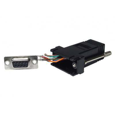 9 Pin Serial DB9 RS232 Female to RJ45 Network Female Socket Adapter Connecter