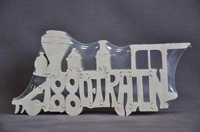Antique Toy Train Wooden Amish Scroll Saw Toy Puzzle