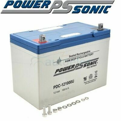 100 Amp Hour Battery Agm Sla 12 Volt 12V Deep Cycle Dual Fridge Solar 100Ah