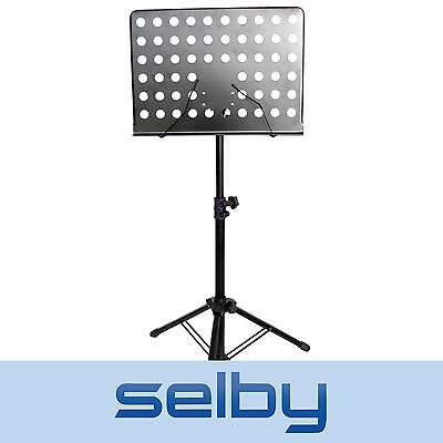 Selby Tablature Sheet Music Stand Heavy Duty Metal Adjustable Black