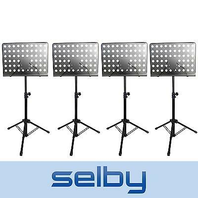 4 x Selby Sheet Music Stand Heavy Duty & Adjustable Black