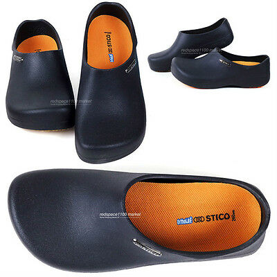 Men Chef Shoes Clog Kitchen Non-Slip Safety Shoes Oil and Water even on safety