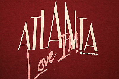 XS * NOS thin vtg 80s 1983 ATLANTA GEORGIA tourist t shirt * 55.50