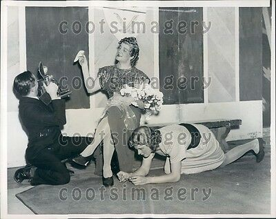 1938 Princeton Triangle Club Rehearsal Once Over Lightly  Press Photo