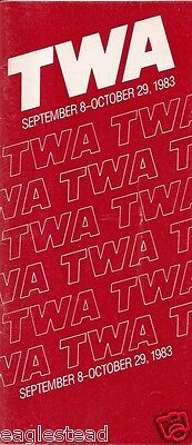 Airline Timetable - TWA - 08/09/83