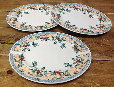 """Johnson Brothers Golden Pears Leaves England 3 Oval Serving Platters 12"""" Fruit"""