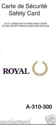 Safety Card - Royal - A310 300 - 1997 (Canada) (S1998)