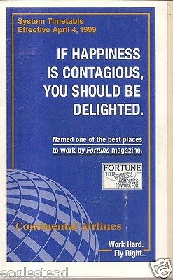 Airline Timetable - Continental - 04/04/99 - S