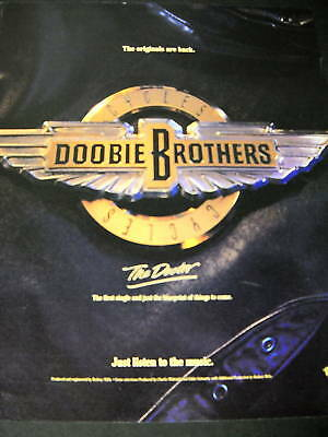 DOOBIE BROTHERS Originals Are Back 1989 PROMO POSTER AD