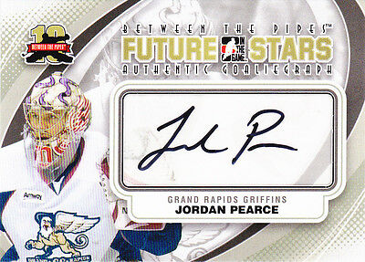 11-12 ITG Jordan Pearce Auto Between The Pipes Future Stars