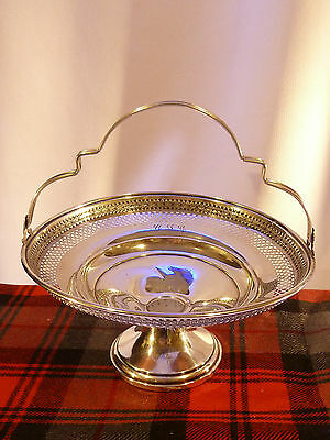 El-Sil-Co STERLING SILVER  Basket Compote    ~ 167.7grams