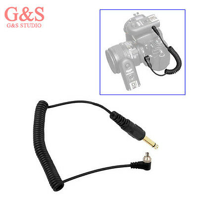 """6.35mm 6.3mm 1/4"""" to Male PC Sync FLASH Cable with Lock"""