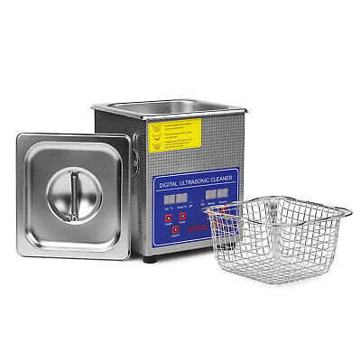 Stainless Steel 1. L Liter Industry Heated Ultrasonic Cleaner Heater w/Timer 110