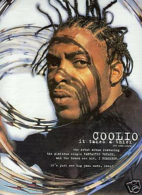 COOLIO 1994 Photo Promo Poster Ad IT TAKES A THIEF mint
