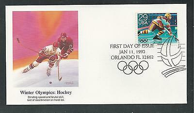 # 2611-2615 WINTER OLYMPICS, ALBERTVILLE 1992 FLEETWOOD First Day Covers