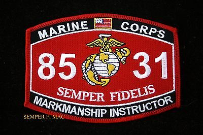 Mos 8531 Markmanship Instructor Patch Us Marines Pin Up Coin Wow Uss Fmf Gift