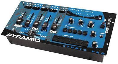 New Pyramid PM4800SFX 4 Channel Rack Mount Stereo Do Mixer W/ Sound Effects