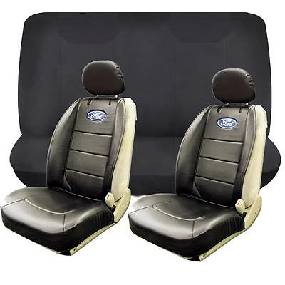 6 Piece Ford Front Low Back Seat Cover Rear Bench Seat Cover Set