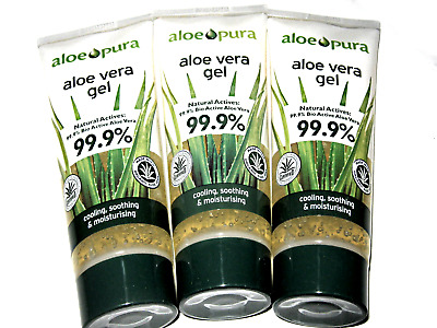 3 x 200ml ALOE PURA Aloe Vera Gel 99.9% Pure 600ml