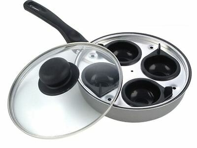Pendeford Sapphire Collection 4 Cup Egg Poacher 20Cm Glass Lid Non Stick Pan