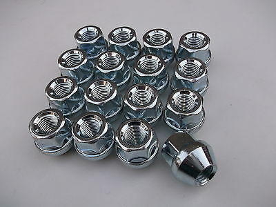 A Set of 16 Open Ended Wheel Nuts M12 x 1.5mm For STEEL WHEELS ONLY (PE1207)