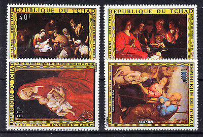 CHAD 1975 Paitings Art Unmounted Mint SG.431-434  Ref:Y154