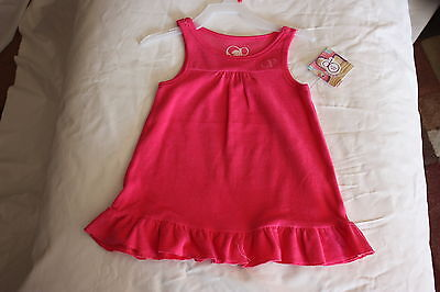 NEW OP Hot Pink Girls Terry Swimsuit Bikini Cover Up Size 18 Months