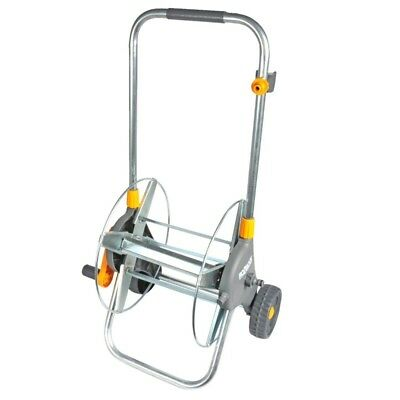 HOZELOCK 60m METAL HOSE CART WITH WHEELS AND CONNECTORS (no hose)