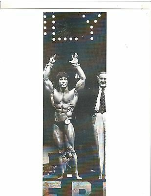 FRANK ZANE /BEN WEIDER @Mr Olympia Contest 1977 Muscle Bodybuilding Photo B+W