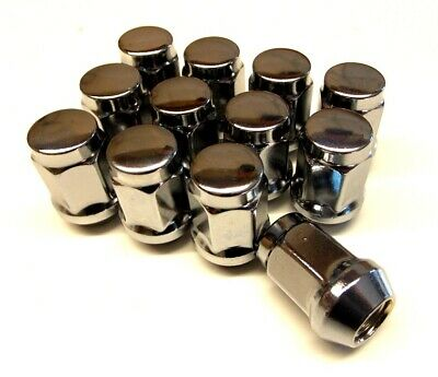 A Set of 12 Closed End Wheel Nuts M12 x 1.5mm For Steel & Alloy Wheels (WND6)