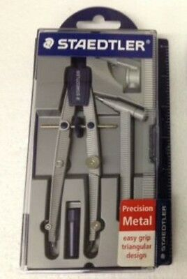 Staedtler Precision Metal Compass 4 Pieces with Case 1 set